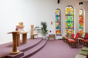 Altar & Stained Glass Window